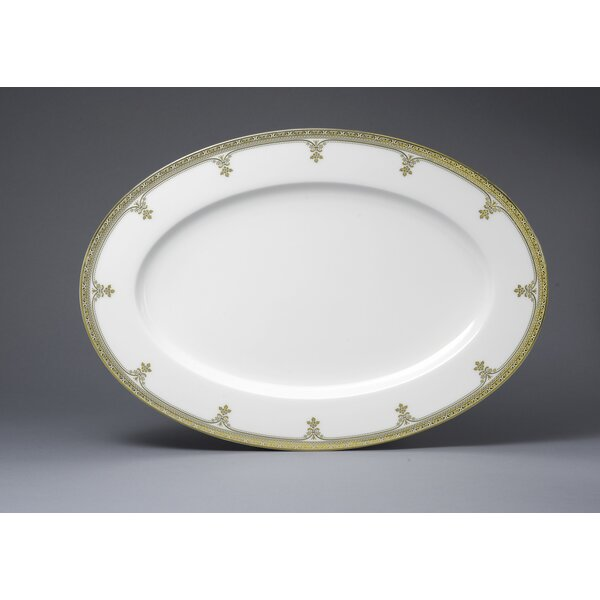 Golden Michelangelo Oval Platter by Oneida