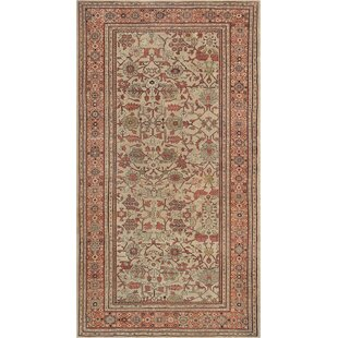 One-of-a-Kind Sultanabad Hand-Woven Beige Area Rug
