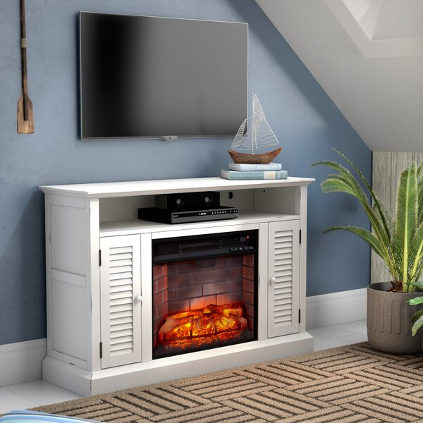 Palou 48 TV Stand with Fireplace by Breakwater Bay
