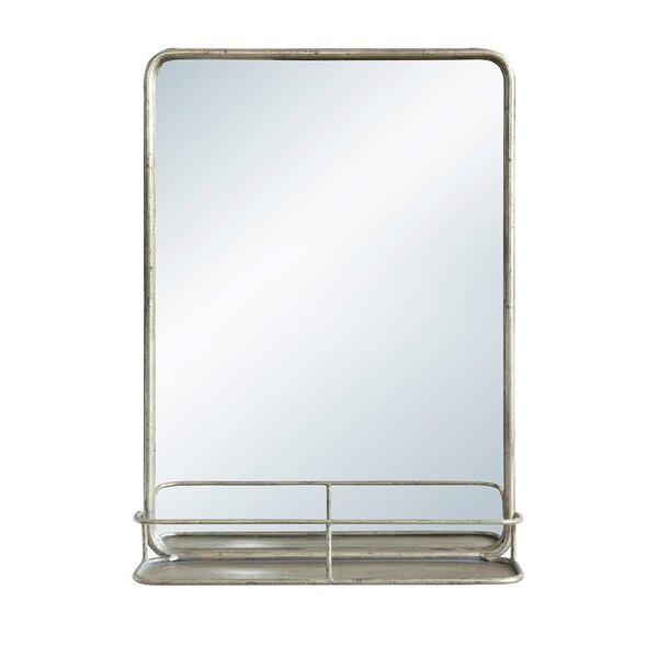 Diep Metal Wall Mirror with Shelf by Breakwater Bay