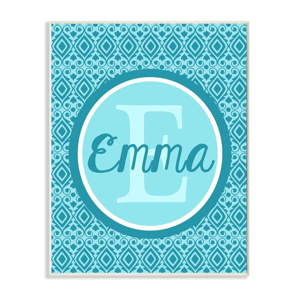 Initial and Name Personalized Wall Plaque by Stupell Industries