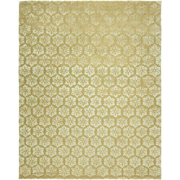 Sepulveda Hand-Tufted Wool Gold Area Rug