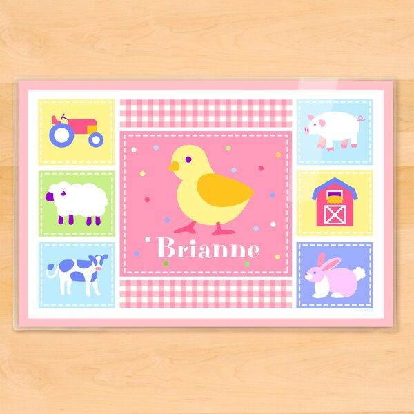 Country Baby Chick Personalized Placemat by Olive Kids
