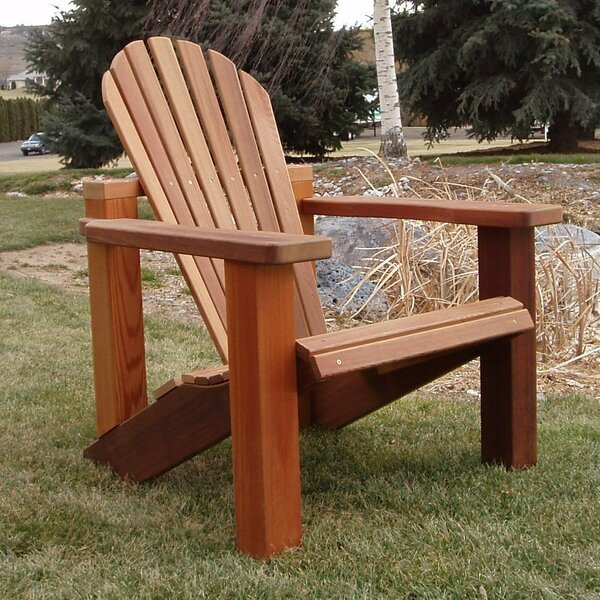 Verna Solid Wood Adirondack Chair with Ottoman by Rosecliff Heights Rosecliff Heights