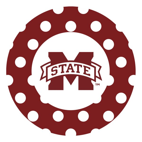 Mississippi State University Dots Collegiate Coaster (Set of 4) by Thirstystone