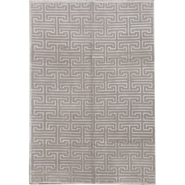 Hand-Knotted 6' x 9' Gray/Silver Area Rug