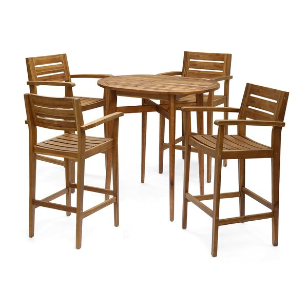 Bennett 5 Piece Bar Hight Dining Set by Millwood Pines