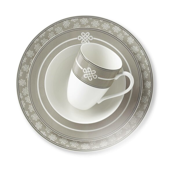 Neutral Party Knot 4 Piece Place Setting, Service for 1 by Lenox