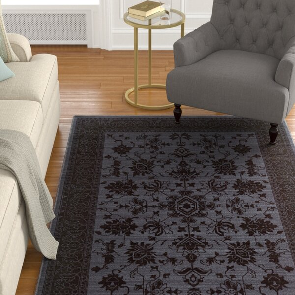 Douglassville Oriental Blue/Gray Area Rug by Alcott Hill