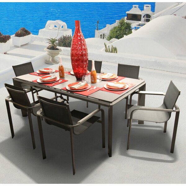 Parkalia Diagonal 7 Piece Dining Set by Bellini Home and Garden