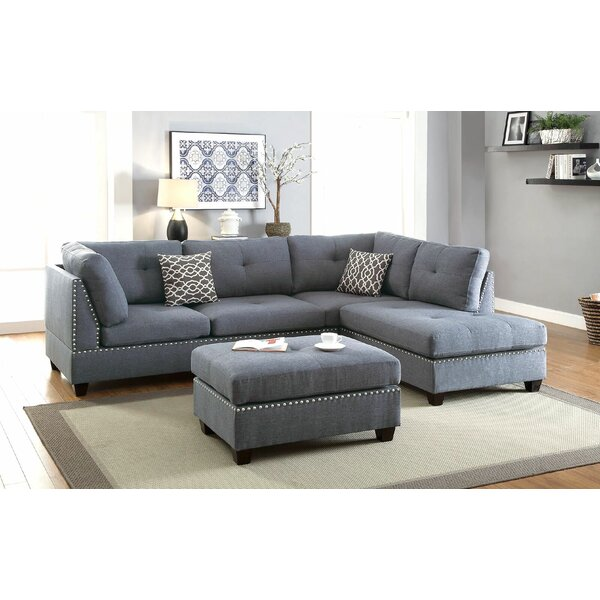 Charlemont Reversible Sectional with Ottoman by Al