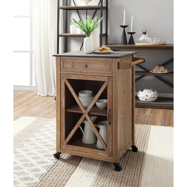Gemma Kitchen Cart with Granite Top by Gracie Oaks