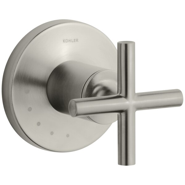 Purist Valve Trim with Cross Handle for Volume Control Valve by Kohler