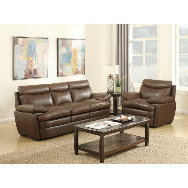 Millwood Leather Sofa by Darby Home Co