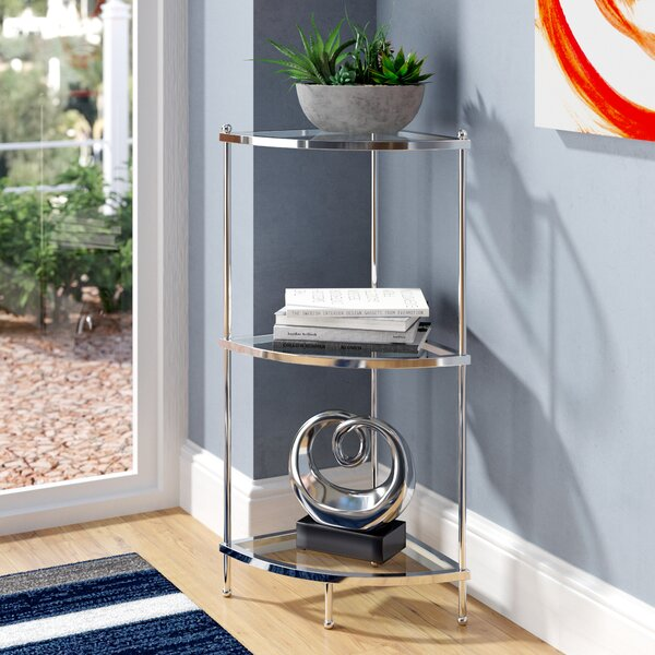Tressie 3 Tier Corner Unit Bookcase by Orren Ellis