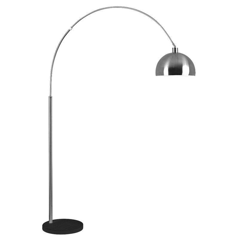 Minisun curva 200cm arched floor lamp reviews wayfair curva 200cm arched floor lamp mozeypictures Choice Image