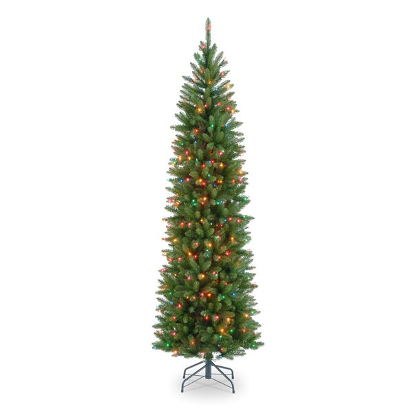 Green Fir Artificial Christmas Tree with Clear Lights & Stand by Three Posts