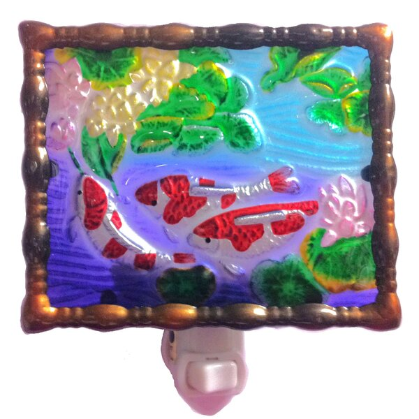 Fishes Night Light by Continental Art Center