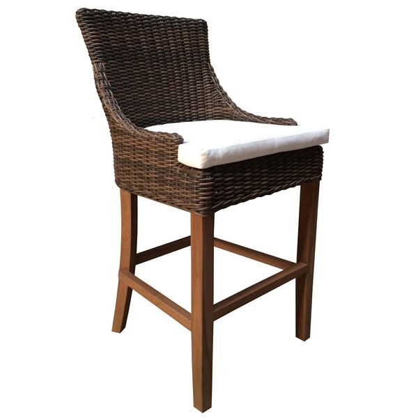 Ennis Patio Bar Stool by Rosecliff Heights