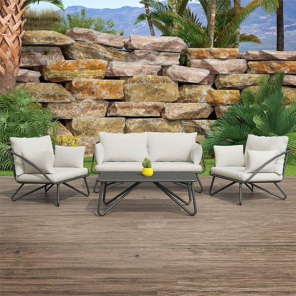 Teddi 4 Piece Sofa Seating Group With Cushions By Novogratz by Novogratz Spacial Price