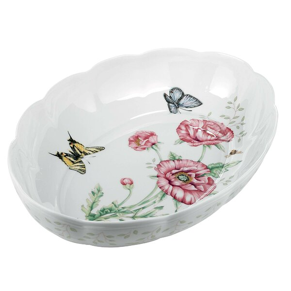 Butterfly Meadow Oval Baker by Lenox