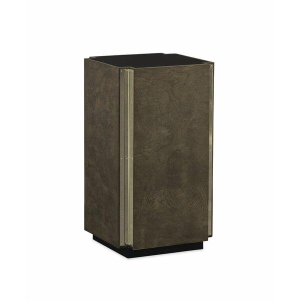 Ash Burl Pedestal End Table