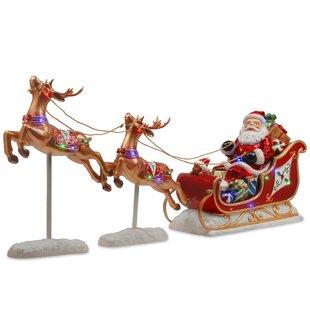 lighted reindeer and sleigh wayfair