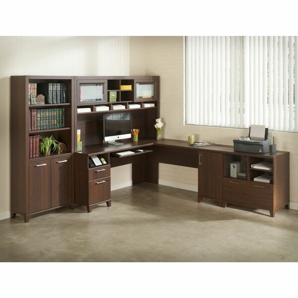 Collaroy L-Shape Desk Office Suite by Latitude Run