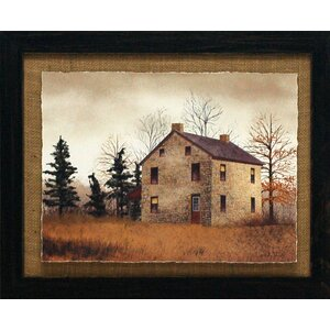 'Old Stone House Primitive Country Farm Landscape' by Billy Jacobs Framed Photographic Print by Artistic Reflections