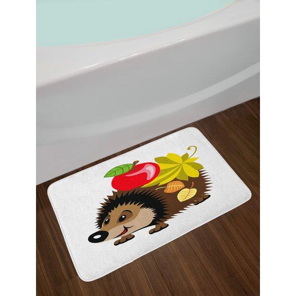 Cartoon Spiky Hedgehog Bath Rug by East Urban Home