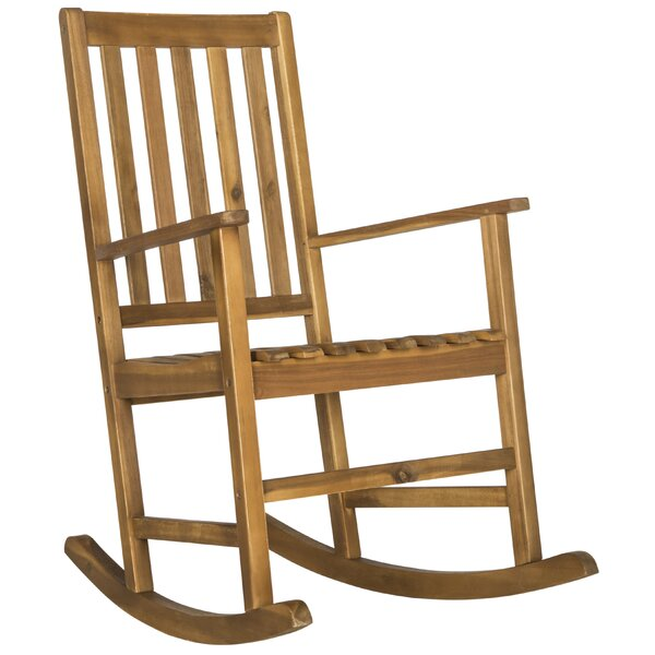 Barstow Teak Rocking Chair by Alcott Hill