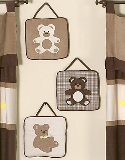 3 Piece Teddy Bear Wall Hanging Set by Sweet Jojo Designs