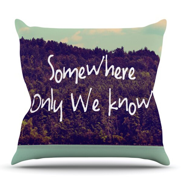 Somewhere by Rachel Burbee Outdoor Throw Pillow by East Urban Home