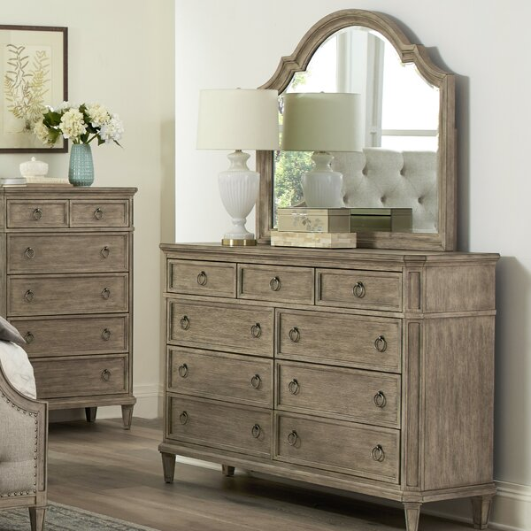 Tuscany 9 Drawers Dresser with Mirror by One Allium Way