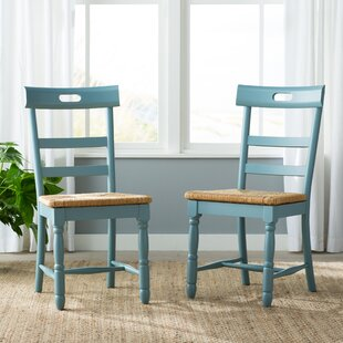 alburg solid wood dining chair set of 2 by beachcrest home modern