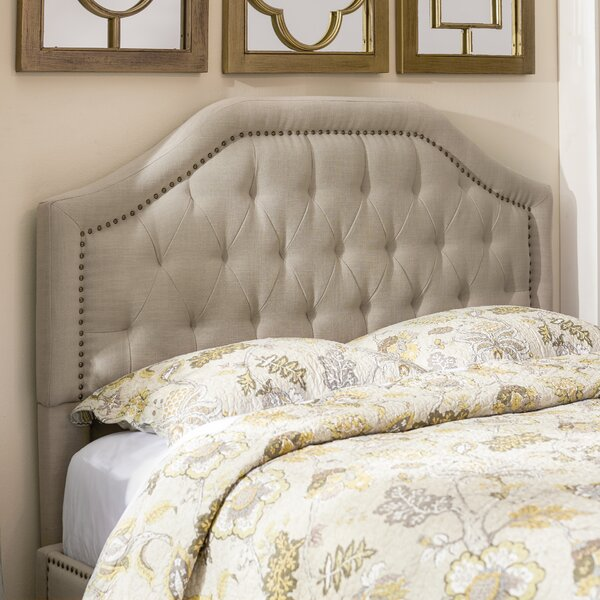 Djibril Scalloped Upholstered Panel Headboard by L