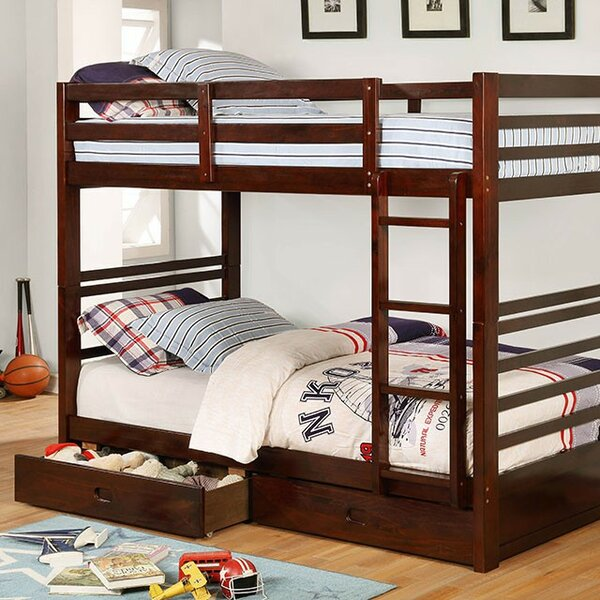 Foerer Twin over Twin Bunk Bed with Drawers by Harriet Bee