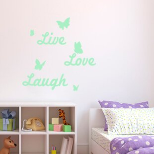 Live Love Laugh Glowing Wall Sticker Set