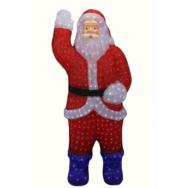 Pre-lit Commercial Grade Acrylic Santa Claus Christmas Lighted Display by The Holiday Aisle