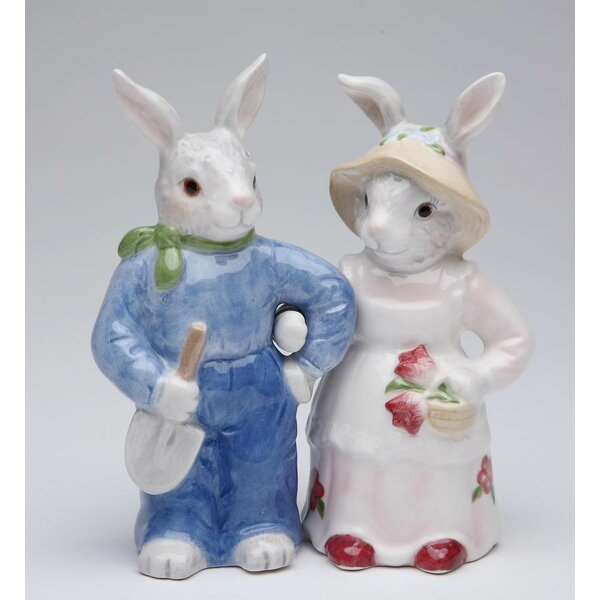 Blossom Bunny 2-Piece Salt and Pepper Set by Cosmos Gifts