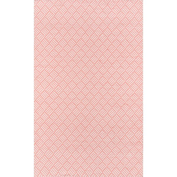 Moorman Beach Club Handwoven Flatweave Pink Indoor/Outdoor Area Rug by Madcap Cottage by Howard Elliott Collection