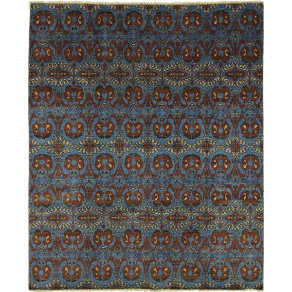 One-of-a-Kind Lona Oriental Hand-Knotted Rectangle Blue Area Rug by Isabelline