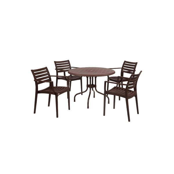 Sletten Patio 5 Piece Dining Set by Brayden Studio