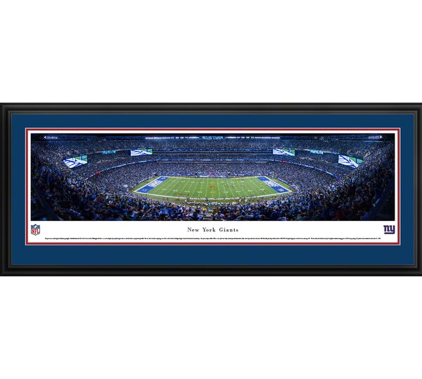 NFL New York Giants - 50 Yard Line by James Blakeway Framed Photographic Print by Blakeway Worldwide Panoramas, Inc