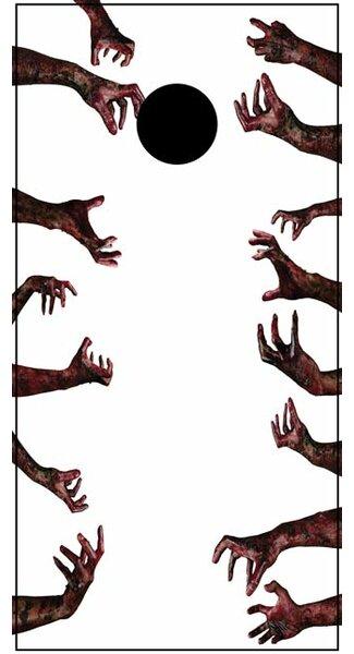 Zombie Hand Cornhole Board by Lightning Cornhole