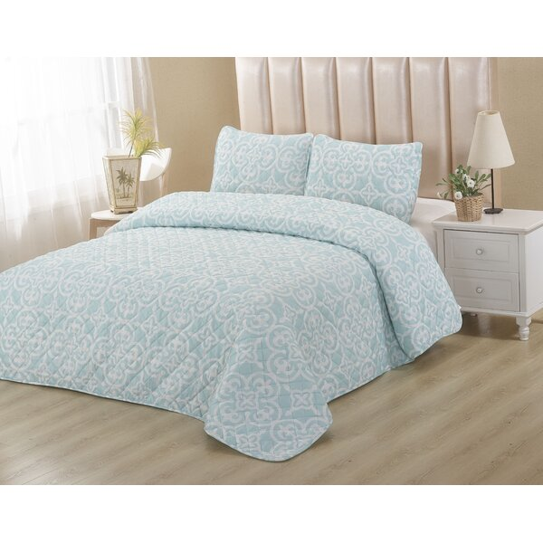 Powder Blue 2 Piece Quilt Set by BHPNY