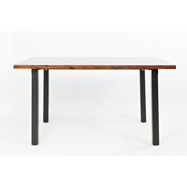 Jeffery Wooden Dining Table by Millwood Pines