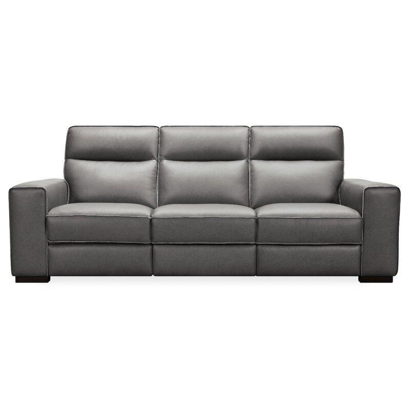 Braeburn Leather Reclining Sofa