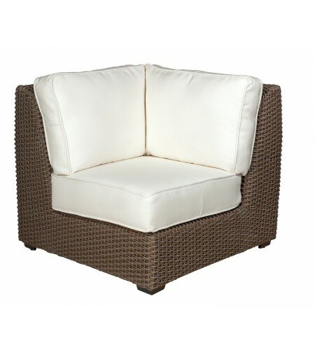 Augusta Corner Sectional Unit Patio Chair with Cushions by Woodard