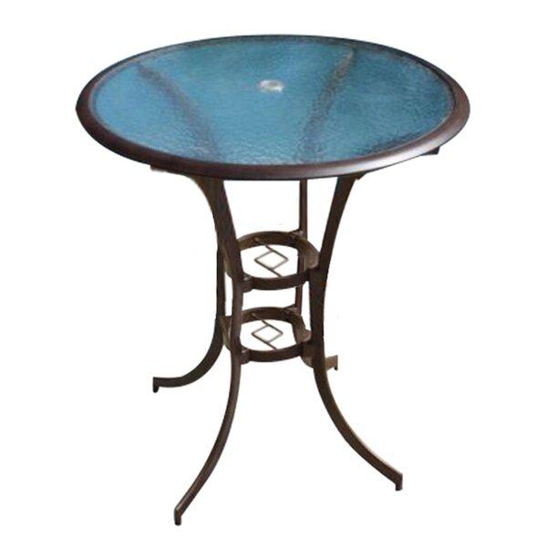 Saskia Metal Bar Table by Beachcrest Home Beachcrest Home